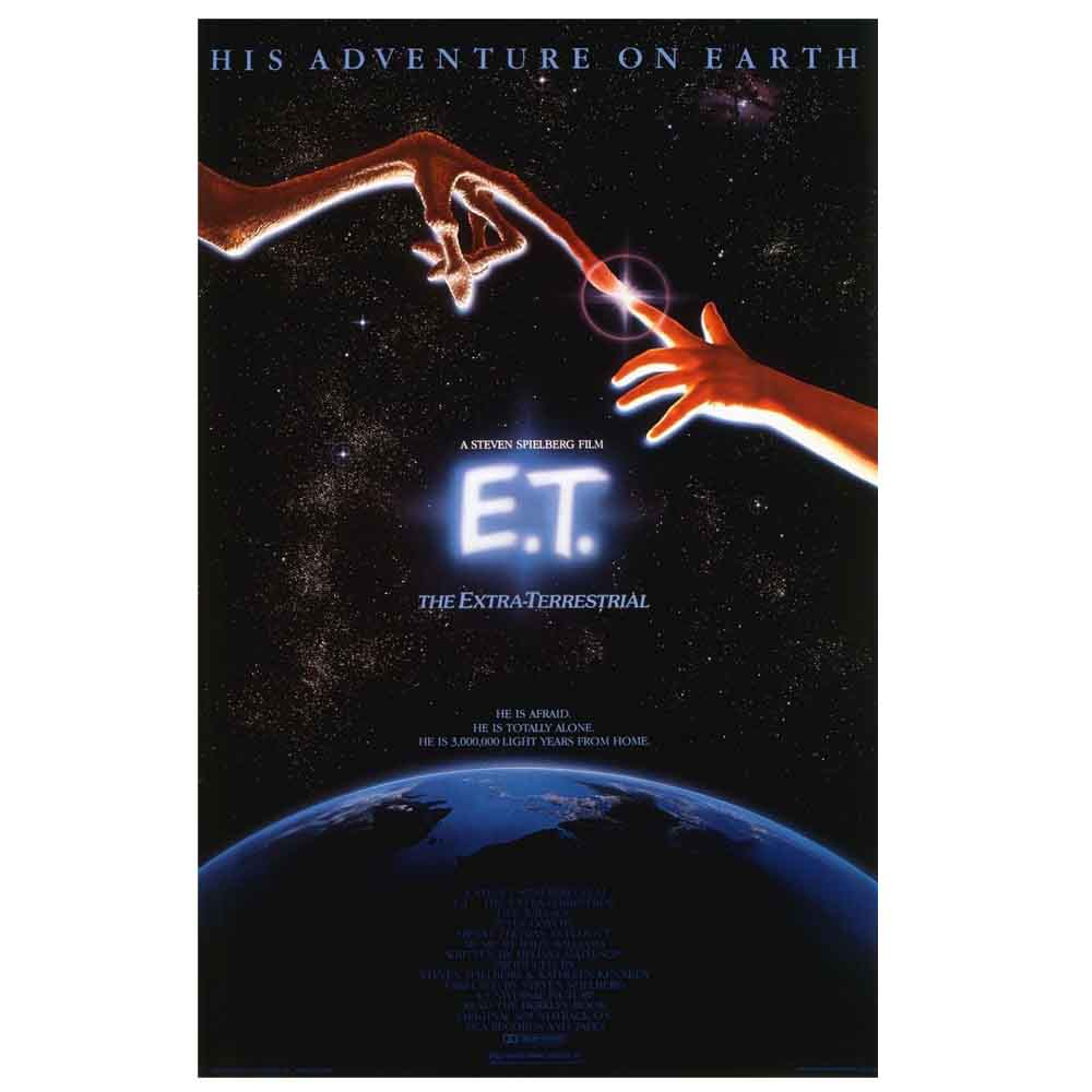 E.T The Extra-Terrestrial UFO Movie Poster Art Print Canvas Painting Wall Decor