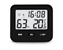 Electronic alarm clock home baby room high precision indoor wall-mounted backlight thermometer and hygrometer