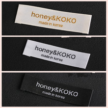 Free shipping custom your logo brand woven clothing labels tags for clothes