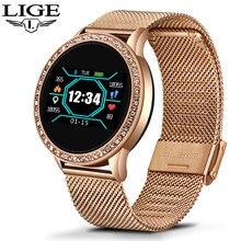 LIGE Smart Watch Women OLED Color Screen Heart Rate Monitor Ladies watch Fashion Fitness Tracker Sport Smartwatch bracelet