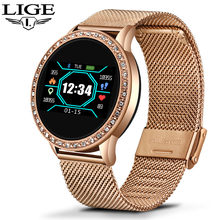 Ini Smart Watch Wanita OLED Warna Layar Monitor Detak Jantung Wanita Fashion Kebugaran Tracker Olahraga Smartwatch Smart Gelang(China)