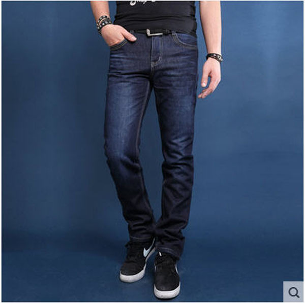 2014 Newest Men Winter Thick Velvet Straight Jeans Slim Plus Size Brand New Denim Pants 28-46  Famous Brand Trousers  S990 men s cowboy jeans fashion blue jeans pant men plus sizes regular slim fit denim jean pants male high quality brand jeans