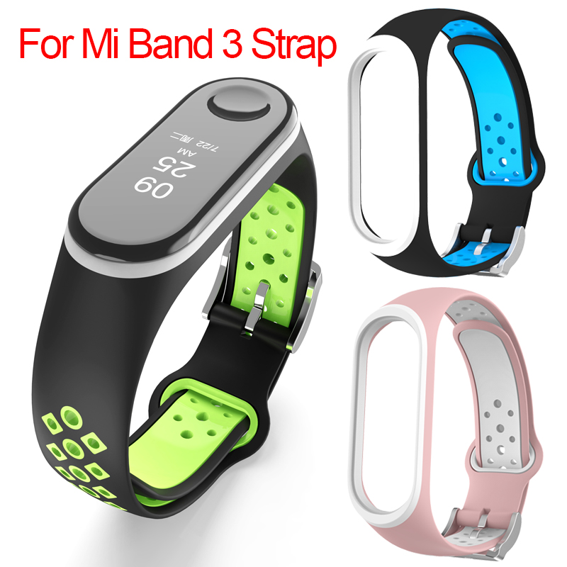 Mi Band 3 Strap wrist strap for Xiaomi mi band 3 Silicone Miband 3 accessories Colorful pulsera correa Mi 3 replacement(China)