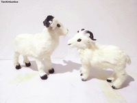 simulation sheep hard model prop, white furs goat, craft home decoration toy gift s1517