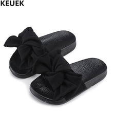 New Children Sandals Summer Bowknot Shoes Princess Slides Girls Sandals Slippers Flip Flop Flat open toe Kids Beach Shoes 02 peep toe flat buckle shoes bohemia flip flop beach beads sandals flat wedges shoes lovely footwear foot toes comfortable to wear