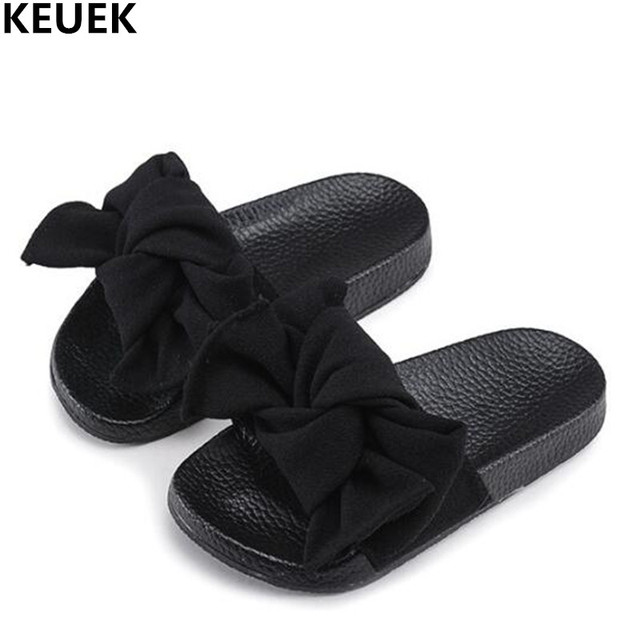 7ef9a7a4bc97cc New Children Sandals Summer Bowknot Shoes Princess Slides Girls Sandals  Slippers Flip Flop Flat open toe Kids Beach Shoes 02