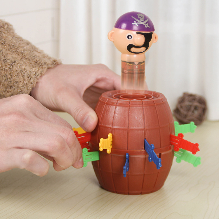 Kids Funny Gadget Pirate Barrel Game Toys For Children Lucky Stab Pop Up Toy Tricky Pirate Barrel Barrel Sword Game
