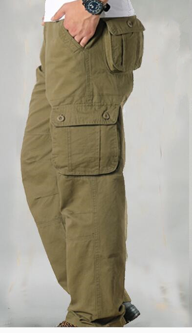 HTB19jbXcROD3KVjSZFFq6An9pXan Men's Cargo Pants Mens Casual Multi Pockets Military Tactical Pants Men Outwear Straight slacks Long Trousers Large size 42 44