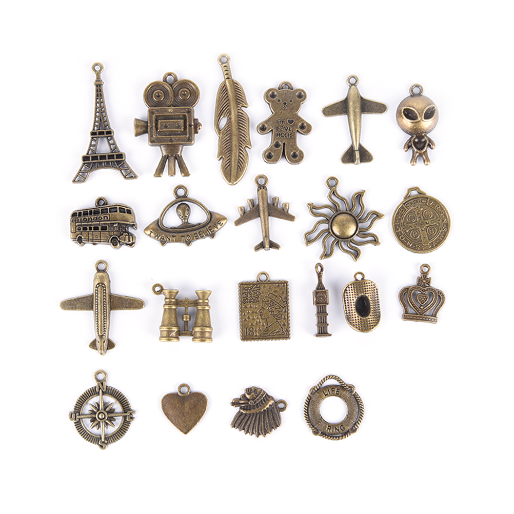 3pcs/lot Leather Notebook Accessory Metal Charm Vintage Creative Hanging Drop Pendant  Bookmark Decoration Diary Journay
