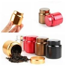 Stash Jar Container Storage-Box Tea-Cans Smell-Proof Airtight Metal Small Mini Aluminum