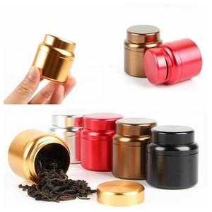 Маленькие металлические алюминиевые банки для хранения трав, портативные мини-банки для чая, герметичный контейнер для хранения запаха ...