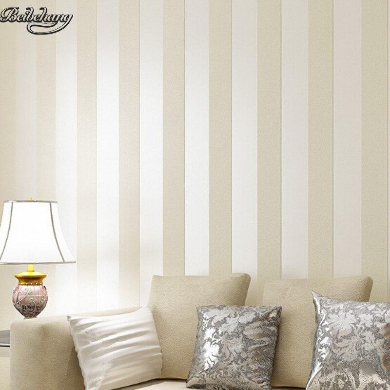 Beibehang stile rotondo semplice carta da parati a righe for Prezzo carta parati