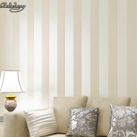 beibehang Style Round Simple Striped Wall Flip Cream and Beige and Brown Paper Banded Striped Wall Contains Wallpaper