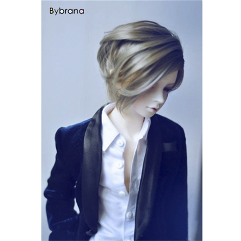 Bybrana Short Straigst Hair 1/4 BJD Wigs High Temperature Fiber For Dolls