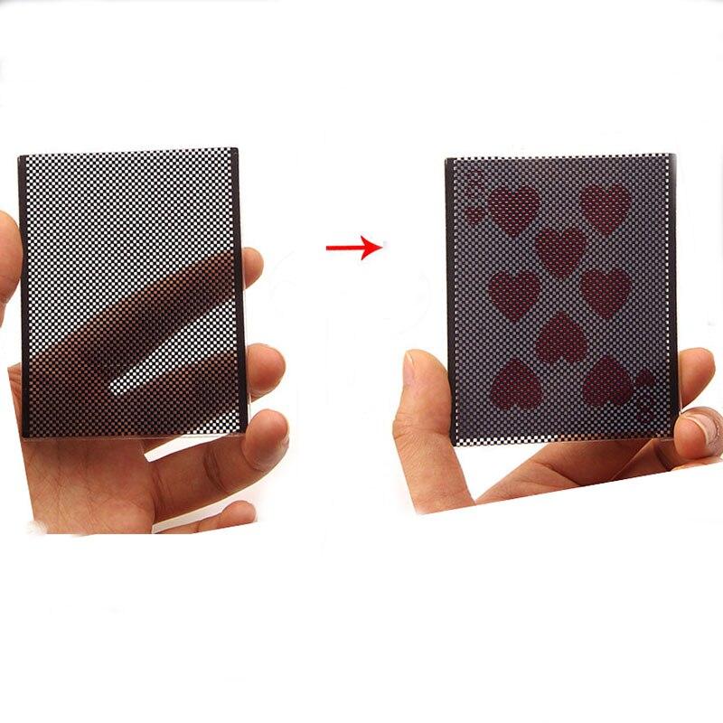 Wow Pôquer Card (Coração) Truques de Mágica Cartão Mudança Visual Mágico Close Up Illusions Gimmick Props Mentalism Magia