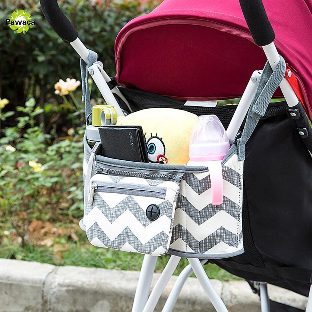 Baby Stroller Bag Nappy Diaper Cup Carriage Hanging Basket Storage Organizer Bolsa Maternidade Para Bebe Stroller Accessories