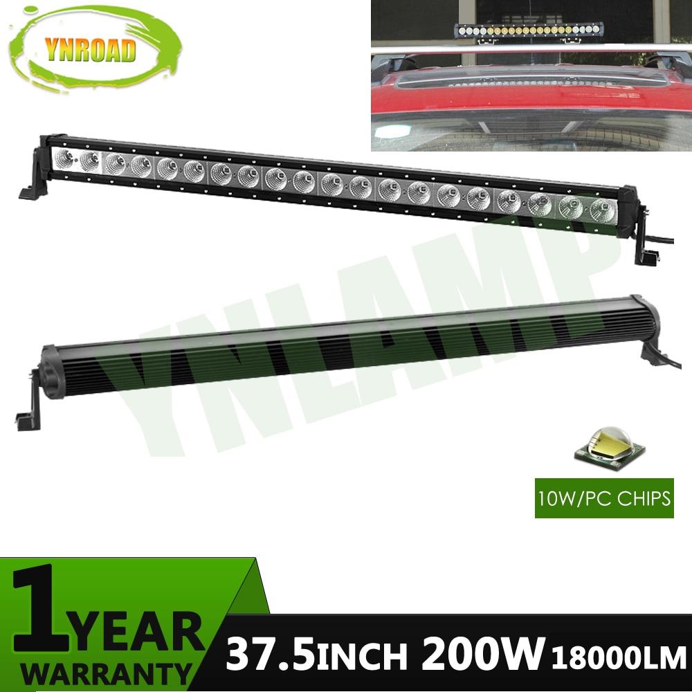 YNROAD 200w 37.5 դյույմ մեկ շարքով Led Light Bar - Ավտոմեքենայի լույսեր - Լուսանկար 1