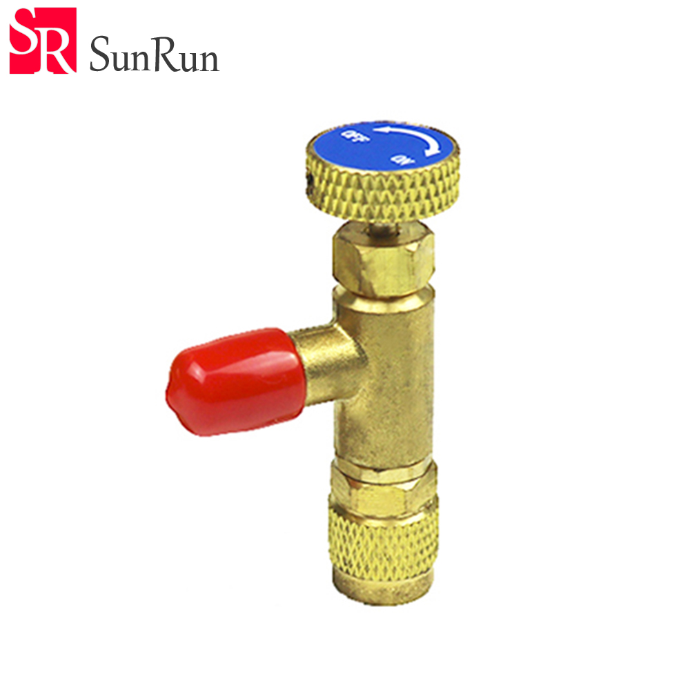Refrigeration Charging Adapter HS-1221 R22 For 1/4 SAE to 1/4SAE Safety Adaptor air conditioning charging valve 3pcs lot new r410 r22 air refrigeration charging adapter refrigerant retention control valve air conditioning charging valve