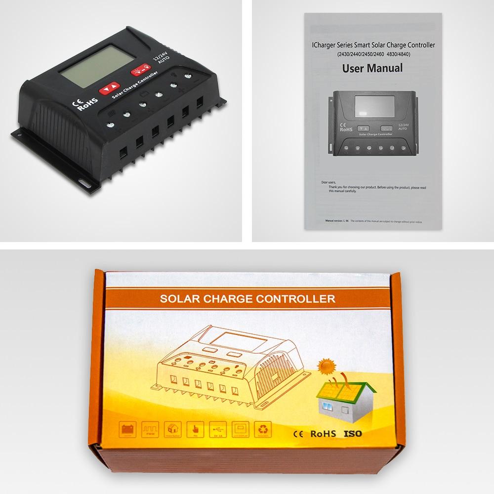 US $16 43 13% OFF|EASUN POWER Solar Charge Controller 30A 40A PWM Solar  Controller USB 5V Voltage Regulator Lcd Display 12V 24V Solar Regulator-in