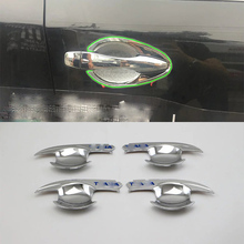 Car Accessories Exterior 4pcs ABS Chrome Door Handle Bowl Cover Trims For Nissan Altima 2016 Styling