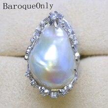 BaroqueOnly bague en perles de culture, blanc, magnifique, 20 à 27mm, livraison gratuite, bijoux RH, 2018
