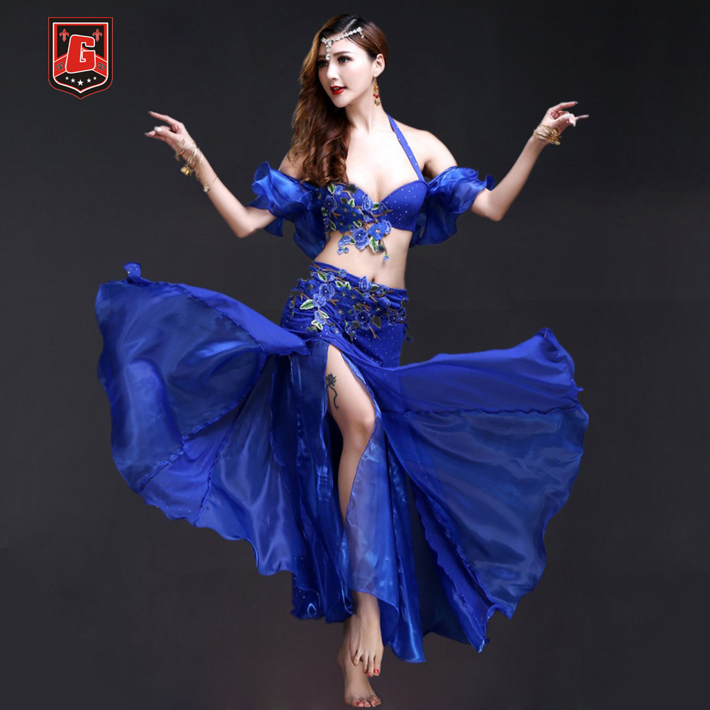 2018 New Profession Belly Dance Costume Set Outfit Set Bra ...