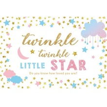 Laeacco Twinkle Little Star Backdrops Gold Do You Know How Loved Are Party Baby Photo Backgrounds Studio