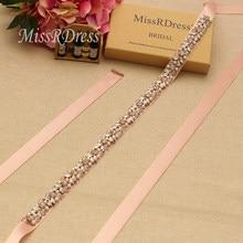 MissRDress Pearls Bridal Belt Rose Gold Crystal Wedding Belt Rhinestones  Bridal Sash For Wedding Party Dresses c153ef7d2c67