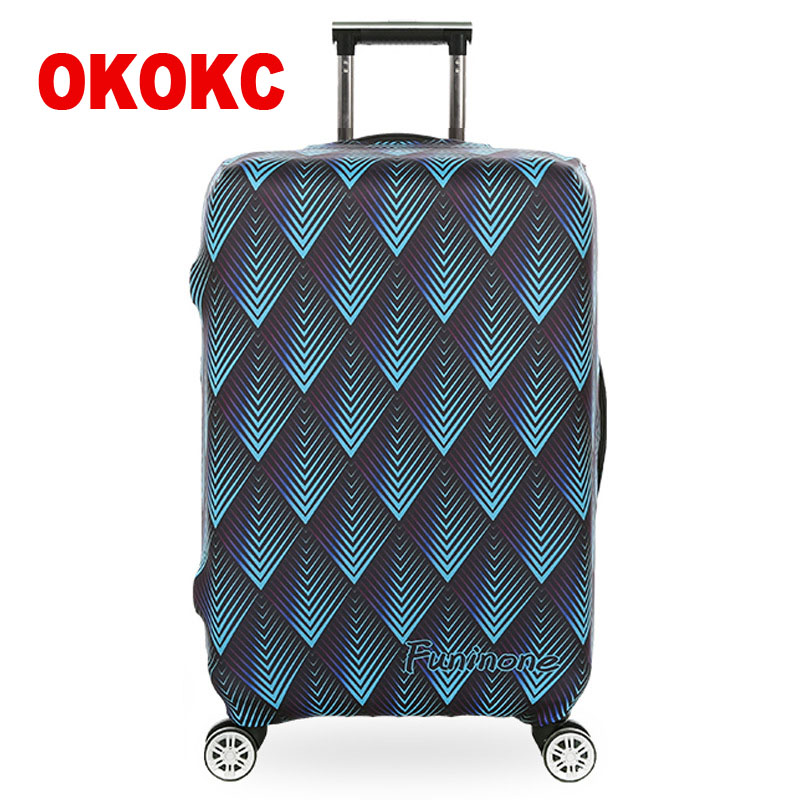 OKOKC Triangle Thickest Elastic Suitcase Cover Fashion Luggage Protective Trolley Bags Cover For 18
