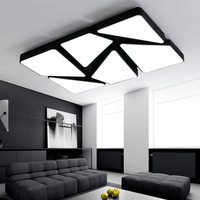 Modern iron acrylic LED ceiling lights home living room lamp creative fixtures ceiling lamps rectangle bedroom Ceiling lighting