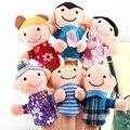 6 Шт. Пакет Счастливая Семья Finger Кукольный Finger Игрушки Finger кукольный Детские ткань Куклы Игрушки для Маленьких детей Малыш Ребенок Мальчики Девочки Развивающие Игрушки Ручной