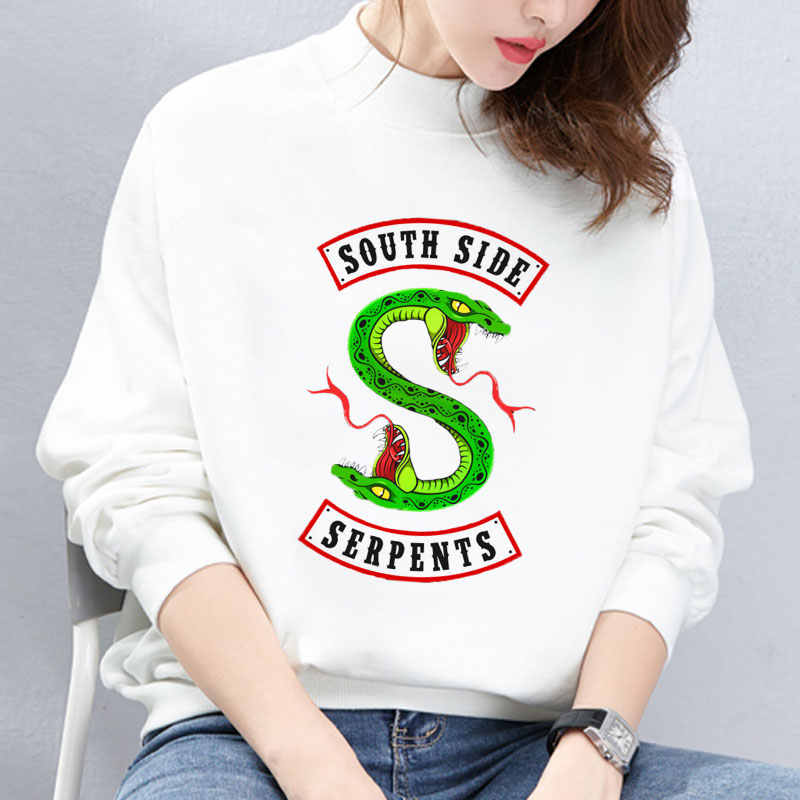2019 Riverdale Hoodies Kpop Korean Fashion Punk South Side Serpents Printed Women Sweatshirt Tops Casual Sweat Pullover Winter