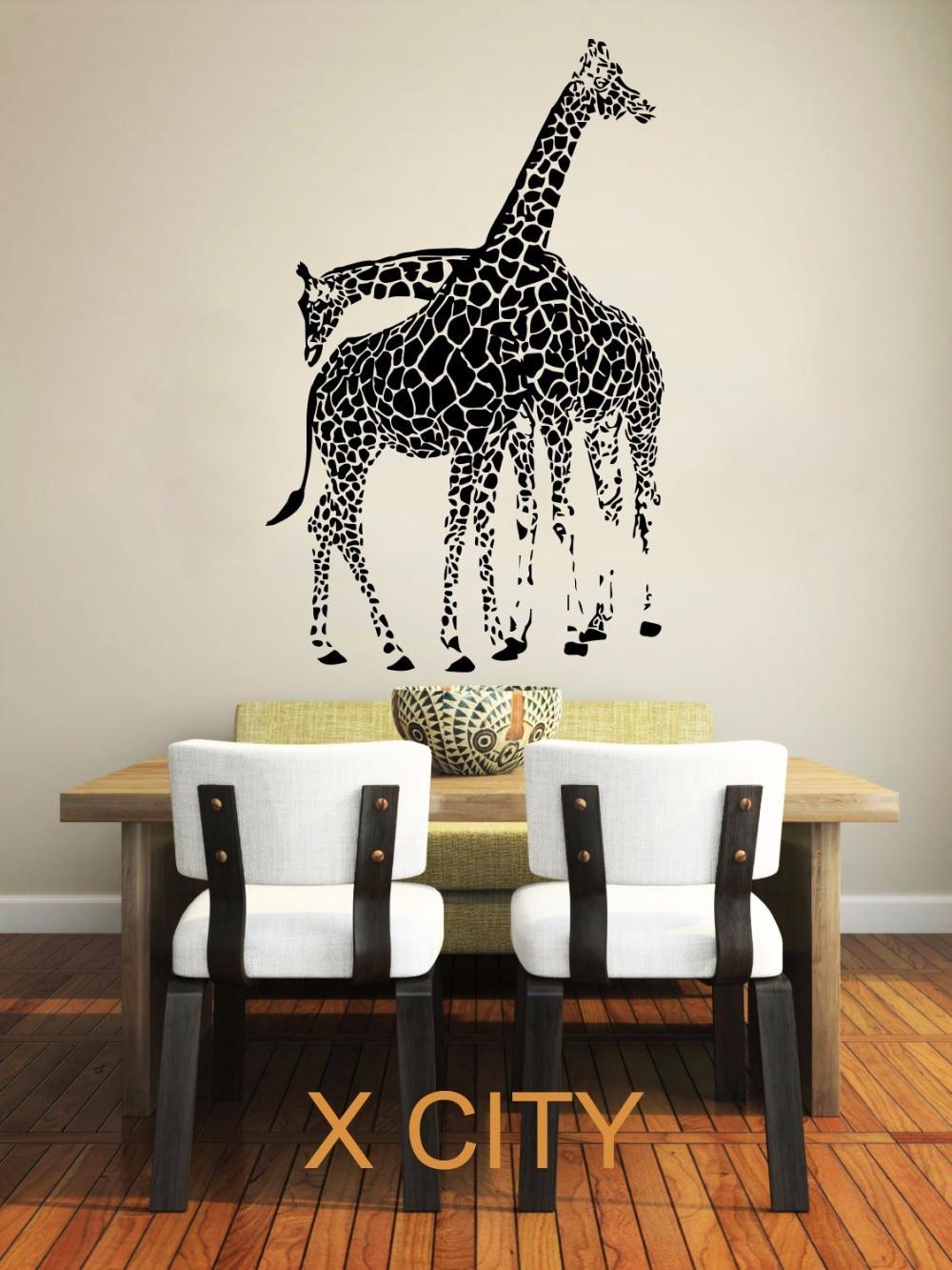 giraffe animals jungle safari african childrens decor kids vinyl sticker wall decal nursery bedroom murals playroom - Safari Decor