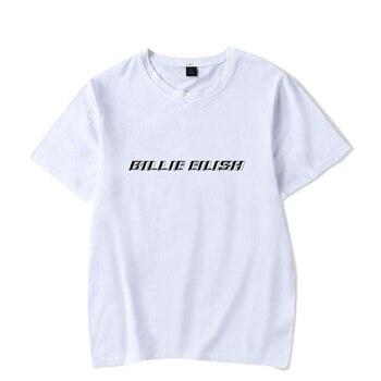 Hip Hop Fashion Brand Clothing KPOP Billie Eilish T Shirt Women/Men 100% Cotton Short Sleeve Funny Tshirt Male/Female Tee Shirt 2
