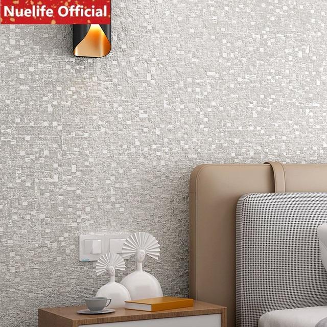 Cheap solid color light gray small square non woven - Solid light gray wallpaper ...