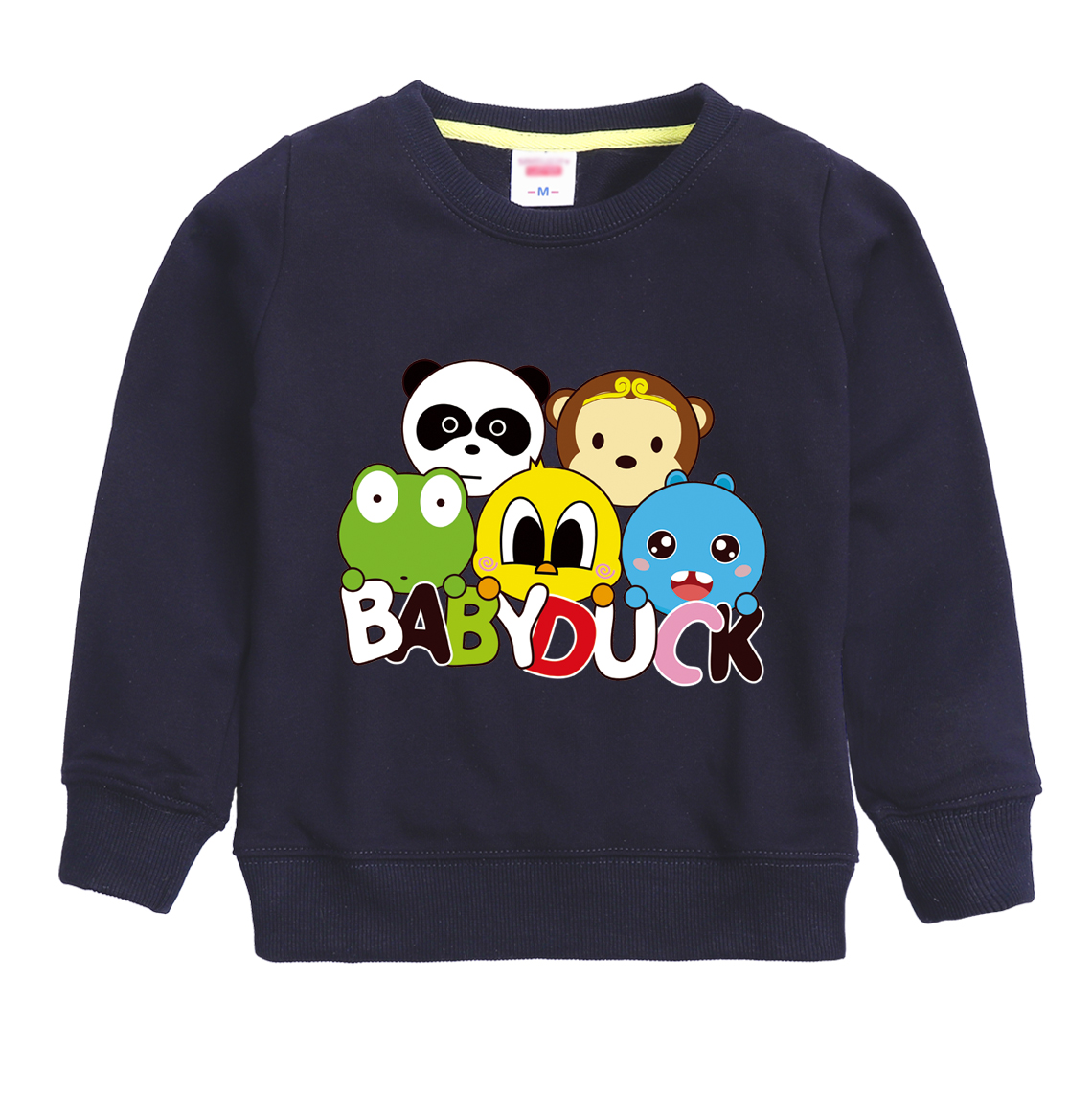 BABY DUCK pattern printed 2018 hot top winter long sleeve sweatshirt design for girl & boy keeping warm and wearing comfortable