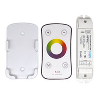 DC12V 24 3CH RF wireless Mini led RGB controller with wall mounted touch panel remote brightness dimmer