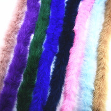 2 Meters/Lot Super Thick Fluffy Turkey Feathers Boa about 50g Black White Marabou Feather for Crafts Boas Strip Carnival Plumas