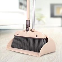 Household Broom Dustpan Set Cleaning Tools; PET Brooms, Metal Handle, 80cm length Broom, 30cm width Dustpan