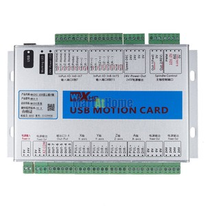 Image 2 - XHC MK4 V Mach3 USB 4 осевая ЧПУ Плата управления движением, коммутационная плата 2 МГц, поддержка возобновления с точки прерывания и отзыва о скорости шпинделя