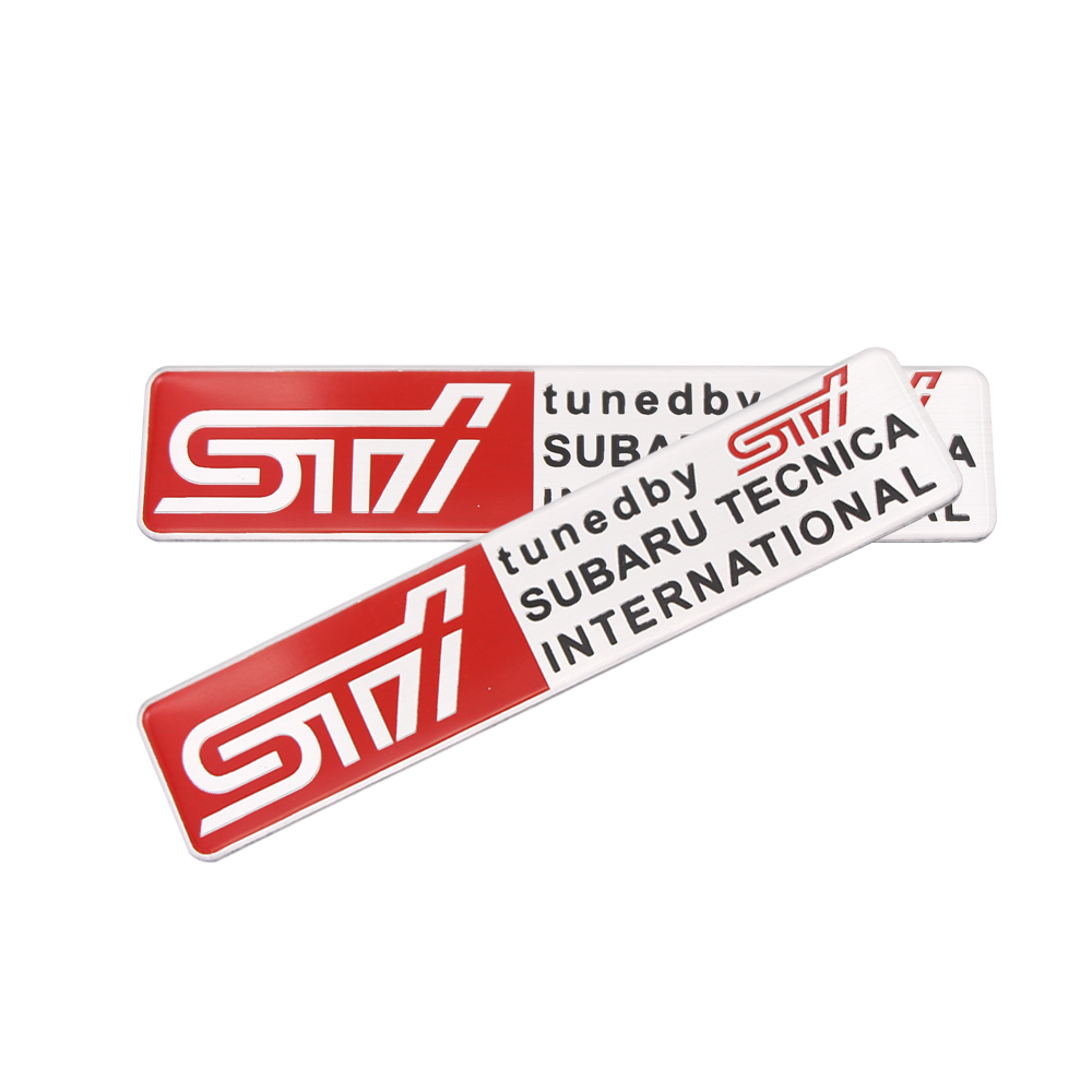 1PCS Car Sticker SUBARU WRX STI Auto Body Decal Car Styling Chorme Emblem Badge Sticker For SUBARU Outback Impreza Legacy XV BRZ