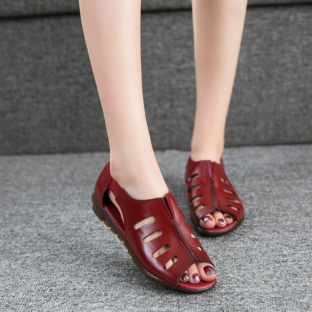 173e26470af0 Online Shop ZZPOHE Summer Women Shoes Woman Genuine Leather Open Toe ...