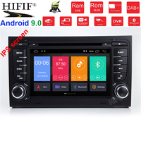 IPS DSP 4G RAM 8 core 2 din Android 9 Car multimedia DVD player GPS autoradio For Audi A4 S4 RS4 8E 8F B9 B7 B6 car radio obd2