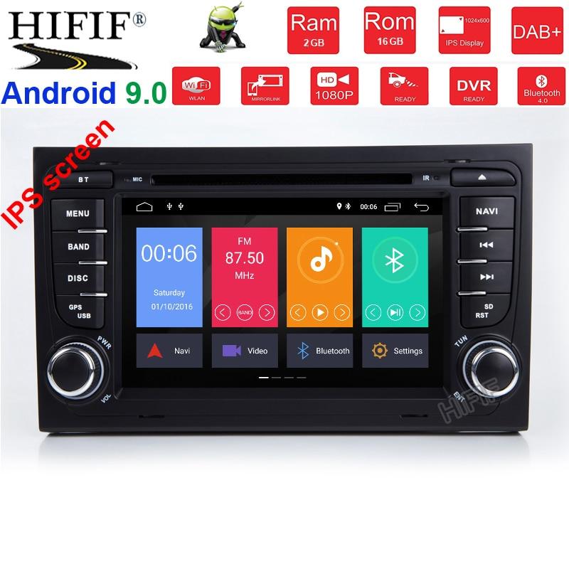 IPS DSP 4G RAM 8 core 2 din Android 9 Car multimedia lettore DVD GPS autoradio Per Audi A4 s4 RS4 8E 8F B9 B7 B6 auto radio obd2