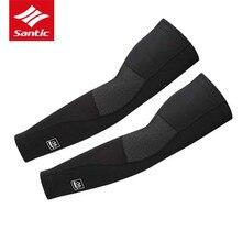Santic manchon bras de Sport, en polaire, pour le cyclisme, chauffe bras de vélo, taille asiatique S XL, hiver