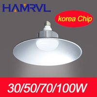 6pcs 50W 100W 70W 30W Korea Led High Bay Light With Epistar Chip 90Lumen Watts Led