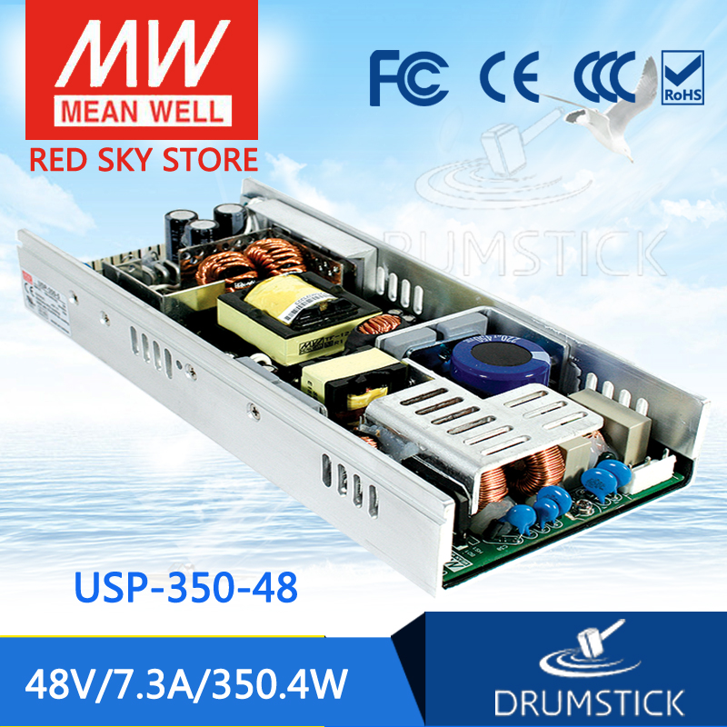 Advantages MEAN WELL USP-350-48 48V 7.3A meanwell USP-350 48V 300W Single Output with PFC Function Power Supply mean well usp 150 48 48v 3 2a meanwell usp 150 48v 153 6w u bracket with pfc function power supply