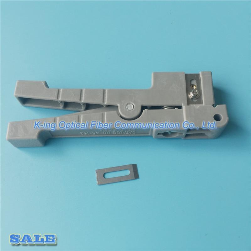 Idéal 45-162 Câble Coaxial Stripper IDÉAL 45-162 Fiber Optique Stripper Poutre Transversale Tube Ouvert et Décapage couteau Lâche Boîtier