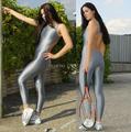 (OL111) Shiny Lycra Spandex Blickdichte Strumpfhose Unisex Fetisch Zentai Bodysuit-in Zentai aus Neuheiten und Spezialanwendung bei