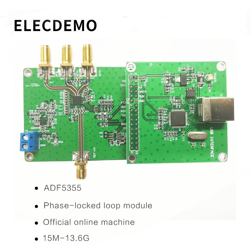 ADF5355 Module Official online position machine ADF5355 phase locked loop module RF signal source 54M 13.6G Function demo Board-in Demo Board Accessories from Computer & Office